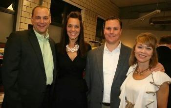 Matt Devoti, Lauren Russo, Matt Casey and Becky Casey enjoy the evenings festivities